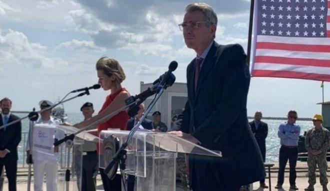 Ο πρέσβης των ΗΠΑ στην Ελλάδα Τζέφρι Πάιατ στην Αλεξανδρούπολη