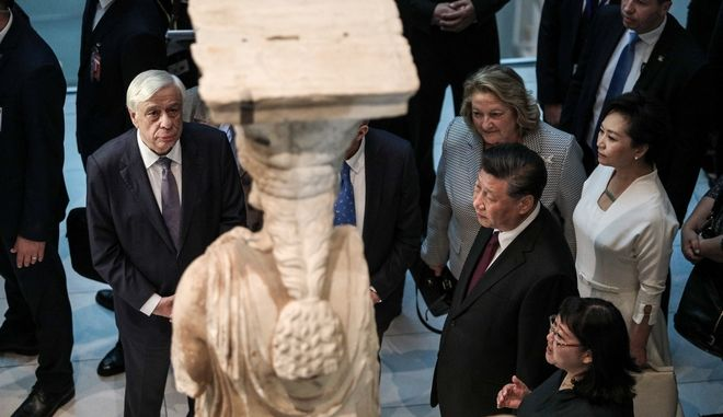 Επίσκεψη του Σι Τζινπίνγκ στο Μουσείο της Ακρόπολης