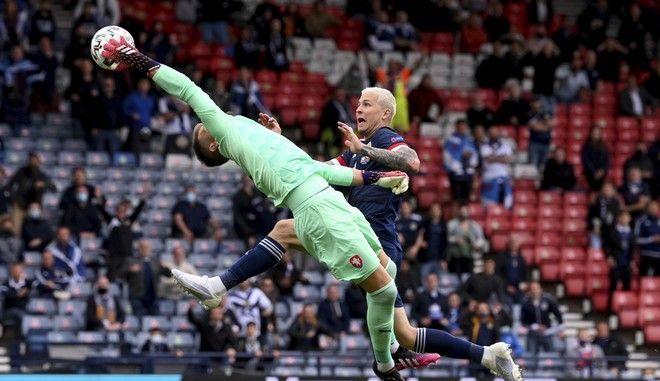 Εικόνα από τον αγώνα Τσεχία - Σκωτία στο Euro 2020