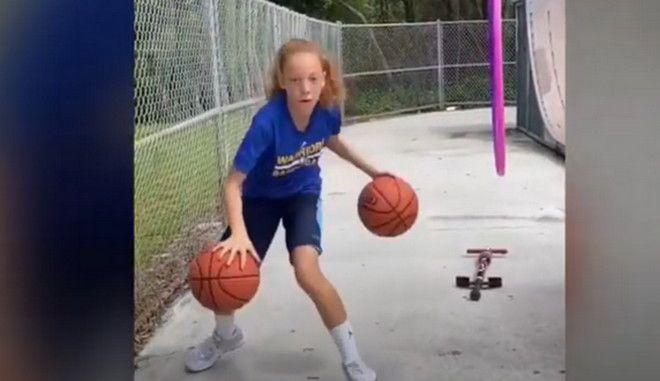 ΗΠΑ: Ο θηλυκός Στέφεν Κάρι κάνει μαγικά σε ηλικία 12 ετών