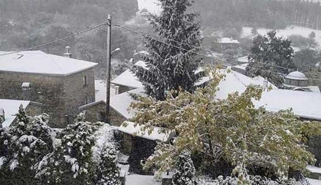 Κακοκαιρία Μπάλλος: Χιόνια στη Φλώρινα