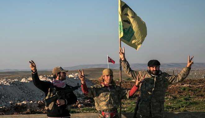Κούρδοι μαχητές (Mursel Coban/Depo Photos via AP, File)