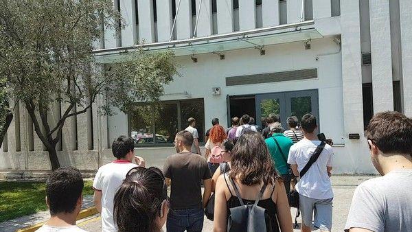 Διαμαρτυρία σε εταιρία ενοικίασης εργαζομένων