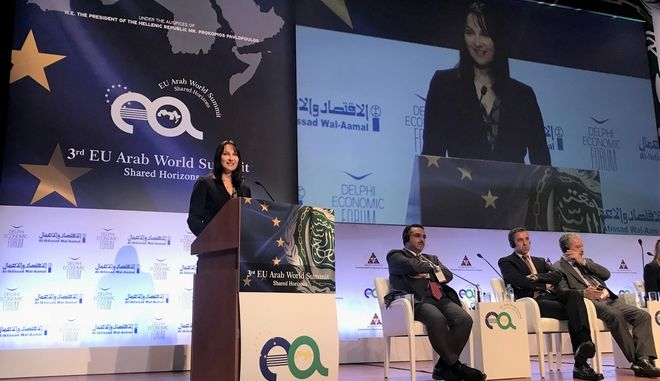 Πρόσκληση για αραβικές επενδύσεις στον ελληνικό τουρισμό, απηύθυνε η Έλενα Κουντουρά