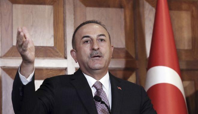 O Τούρκος υπουργός Εξωτερικών Μεβλούτ Τσαβούσογλου.