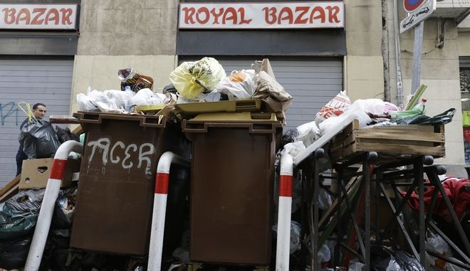 Σκουπίδια στη Μασσαλία. Φωτό αρχείου.