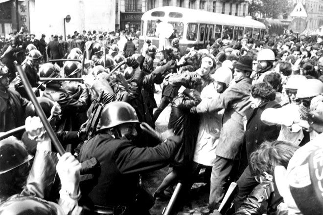 Αστυνομική βία εναντίον των διαδηλωτών στο Καρτιέ Λατέν (6/5/1968)