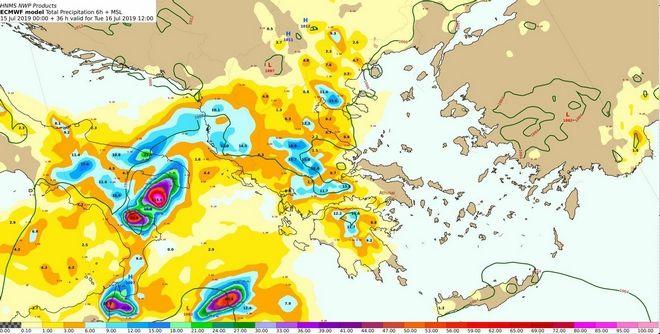 Κακοκαιρία: Χαλάζι και ισχυροί άνεμοι σε Ιόνιο, Ήπειρο, Δυτική Μακεδονία και Στερεά