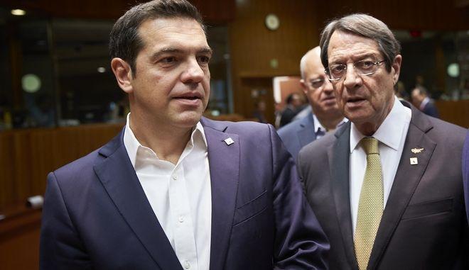 Ο Πρωθυπουργός Αλέξης Τσίπρας στην Σύνοδο Κορυφής της Ευρωπαϊκής Ένωσης την Πέμπτη 19 Οκτωβρίου 2017, στις Βρυξέλλες. (EUROKINISSI/ΕΥΡΩΠΑΪΚΗ ΕΝΩΣΗ)