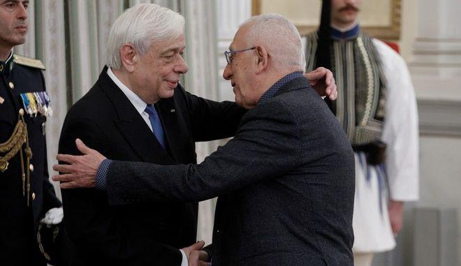Ο Πρόεδρος της Δημοκρατίας Προκόπης Παυλόπουλος και ο Νικήτας Κακλαμάνης