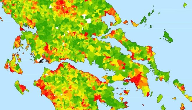 Χάρτης: Σε ποιες περιοχές της Ελλάδας ζούσαν οι Έλληνες το '40