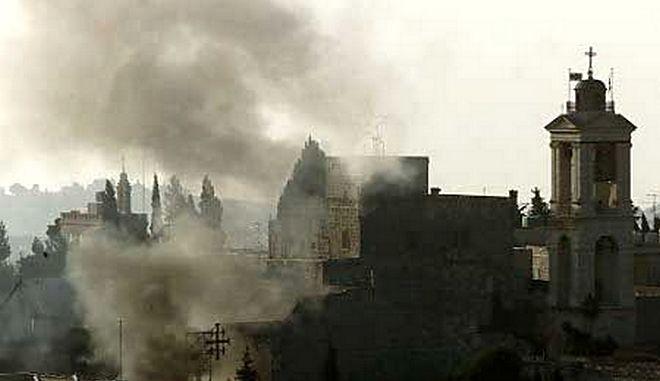 Φωτιά στο Σπήλαιο της Γέννησης στη Βηθλεέμ