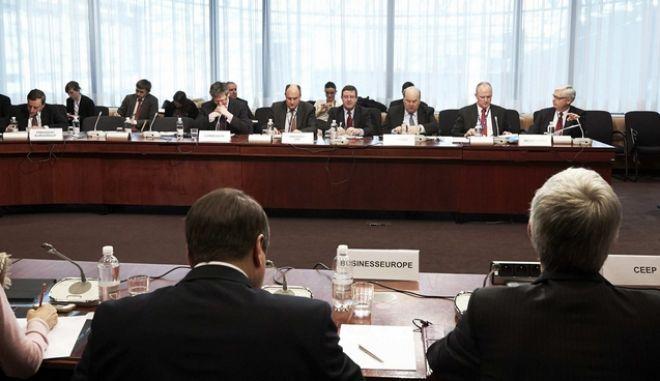 Στιγμιότυπο από την συνεδρίαση του Eurogroup, την Δευτέρα 4 Μαρτίου 2013.  (EUROKINISSI/ΣΥΜΒΟΥΛΙΟ ΤΗΣ Ε.Ε.)
