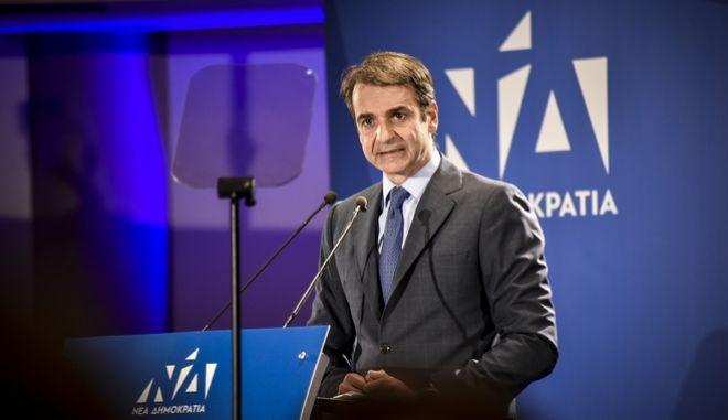 Ομιλία του Προέδρου της Νέας Δημοκρατίας, Κυριάκου Μητσοτάκη στη Πρέβεζα. Δευτέρα 8 Οκτωβρίου 2018 (EUROKINISSI/ΓΙΩΡΓΟΣ ΕΥΣΤΑΘΙΟΥ)