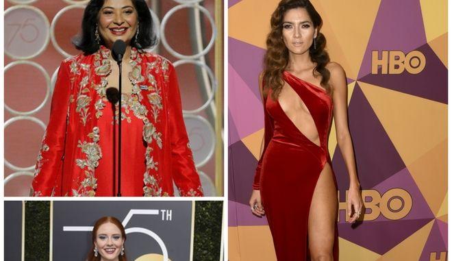 Ποιες δεν φόρεσαν μαύρα στις Χρυσές Σφαίρες 2018