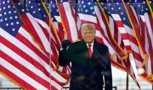 Ο Πρόεδρος Ντόναλντ Τραμπ σε συλλαλητήριο την Τετάρτη, 6 Ιανουαρίου 2021, στην Ουάσινγκτον.