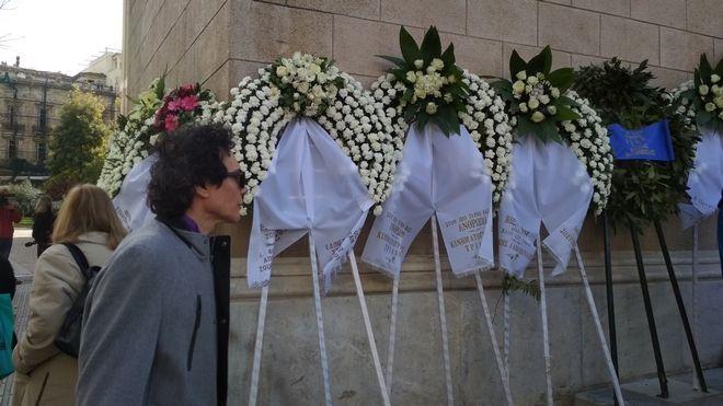 Παντελής Καναράκης στην κηδεία του ηθοποιού Κώστα Βουτσά στην Αθήνα την Παρασκευή 28 Φεβρουαρίου 2020