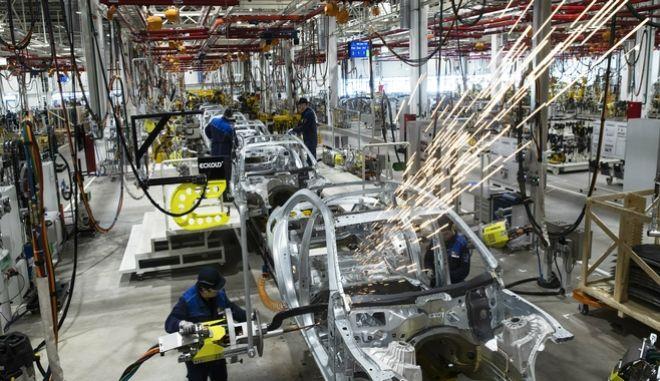 Εικόνα από εργοστάσιο αυτοκινήτων στη Γερμανία