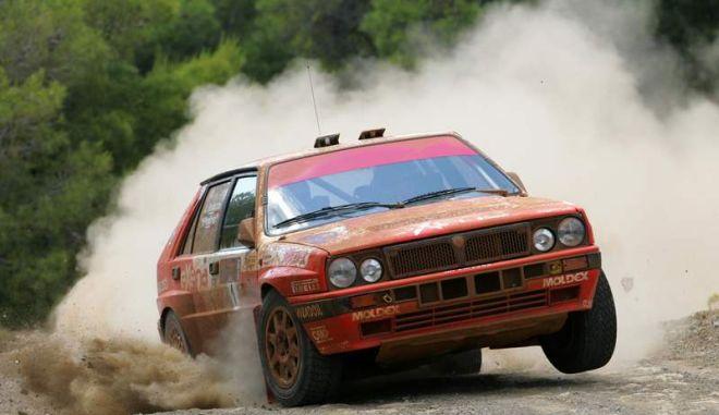 """14ο Ιστορικό Ράλλυ Ακρόπολις. """"Pedro"""" και Lancia Delta Integrale στην κορυφή"""