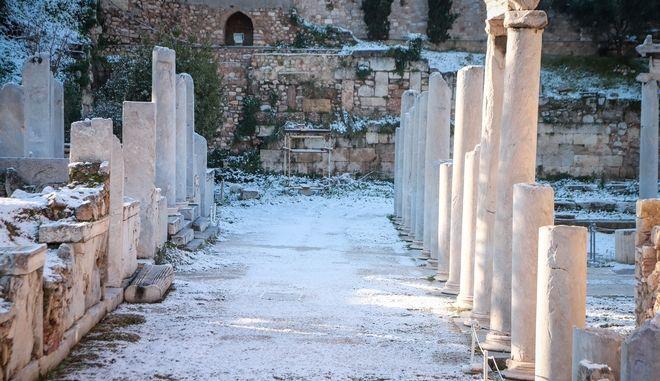Χιόνια στην Αθήνα.