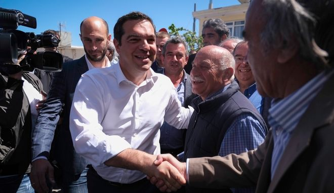 Επίσκεψη του Πρωθυπουργού, Αλέξη Τσίπρα στα Ανώγεια κατά την δεύτερη ημέρα της περιοδείας του στην Κρήτη, την Παρασκευή 3 Μαΐου 2019. (EUROKINISSI/ΓΡΑΦΕΙΟ ΤΥΠΟΥ ΠΡΩΘΥΠΟΥΡΓΟΥ/ANDREA BONETTI)
