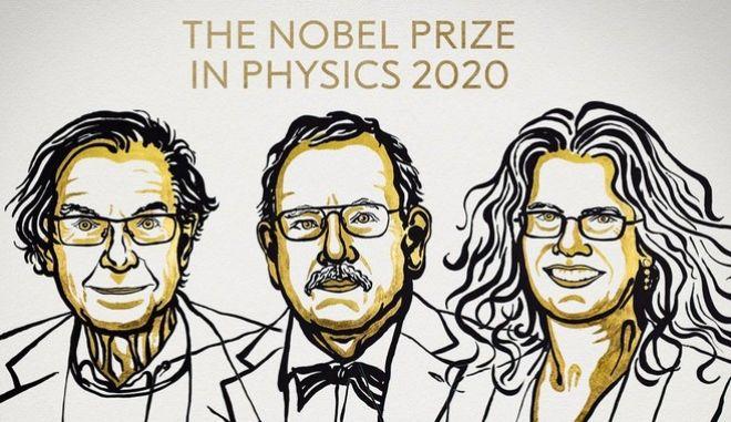 Με το Νόμπελ Φυσικής 2020 τιμήθηκαν οι Πένροουζ, Γκέντσελ και Γκεζ.