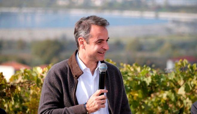 Μητσοτάκης: Είμαι μεγάλος οπαδός του ελληνικού κρασιού. Θα προστατεύσουμε το brand Μακεδονία