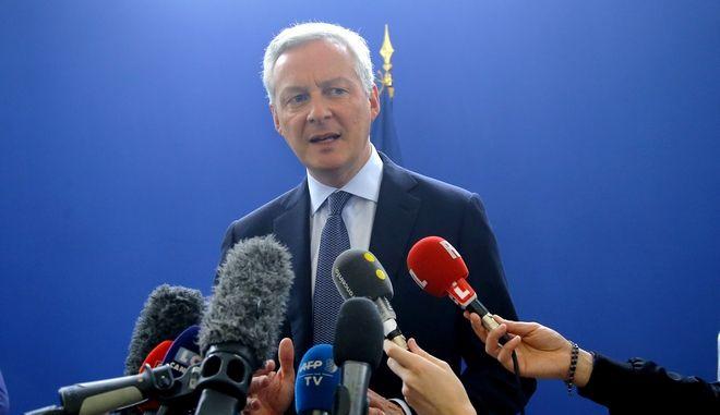 O υπουργός Οικονομικών της Γαλλίας Μπρούνο Λε Μερ στο Παρίσι