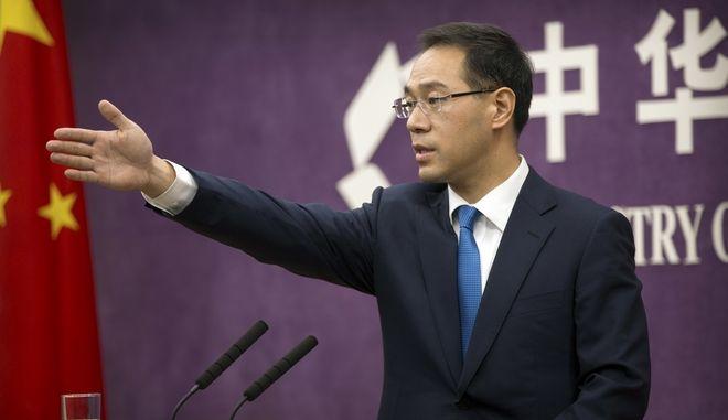 Ο υπουργός Εμπορίου της Κίνας Gao Feng)