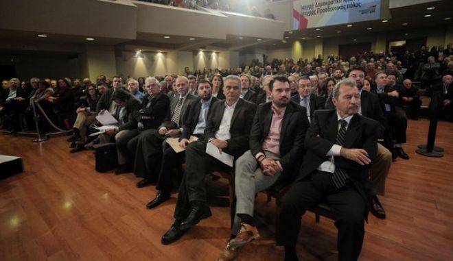 Στιγμιότυπο από τις εργασίες της πρώτης ημέρας του 2ου Συνεδρίου του κόμματος, την Πέμπτη 12 Δεκεμβρίου 2013. (EUROKINISSI/ΚΩΣΤΑΣ ΚΑΤΩΜΕΡΗΣ)