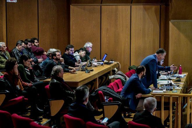 Χρονικό 5,5 χρόνων ακροαματικής διαδικασίας στην Δίκη της Χρυσής Αυγής.Γενιικά στιγμιότυπα από την δίκη σε Εφετείο και δικαστική αίθουσα Κορυδαλού, Δευτέρα 5 Οκτωβρίου 2020
