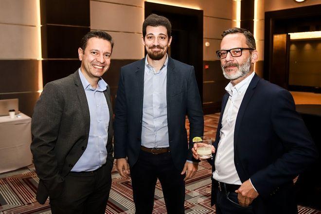 Από αριστερά: Λουκάς Καρετζόπουλος, Γιάννης Βήτας και Πάνος Βελαχουτάκος