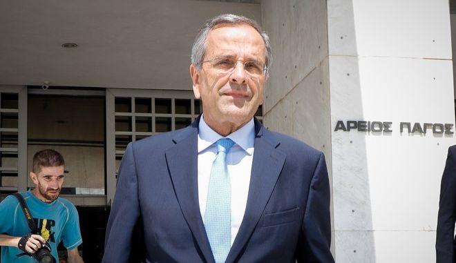 Κατάθεση του πρώην πρωθυπουργού Αντώνη Σαμαρά για την υπόθεση Novartis στον Άρειο Πάγο