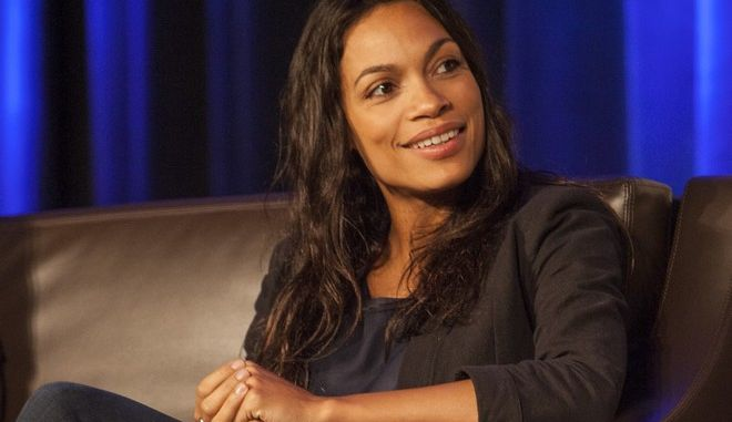 Rosario Dawson during Wizard World Chicago Comic-Con at the Donald E. Stephens Convention Center on Sunday, Aug. 21, 2016, in Chicago. (Photo by Barry Brecheisen/Invision/AP)