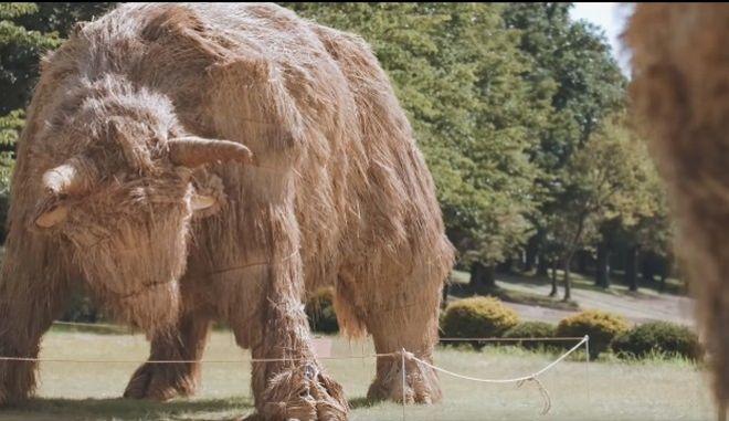 Μην τρομάξετε - Αυτά τα γιγαντιαία αγάλματα ζώων είναι από στάχυα ρυζιού