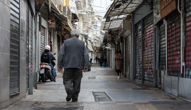 Κλειστά καταστήματα στο κέντρο της Αθήνας