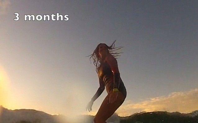 Βίντεο: Σερφάρει ακόμα και στον ένατο μήνα εγκυμοσύνης