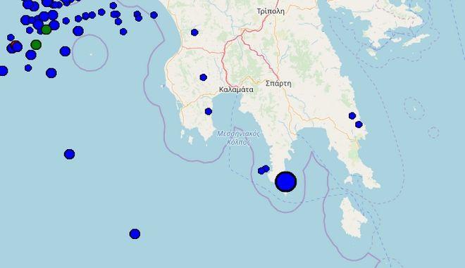 Σεισμός 4,3 ρίχτερ ανοιχτά της Πελοποννήσου