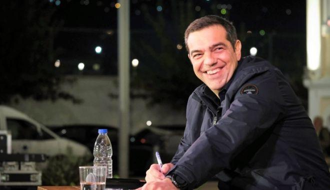 Δεύτερη ημέρα της περιοδείας του προέδρου του ΣΥΡΙΖΑ, Αλέξη Τσίπρα στην Κρήτη, την Τρίτη 22 Οκτωβρίου 2019. (EUROKINISSI/ΓΡΑΦΕΙΟ ΤΥΠΟΥ ΣΥΡΙΖΑ/ANDREA BONETTI)
