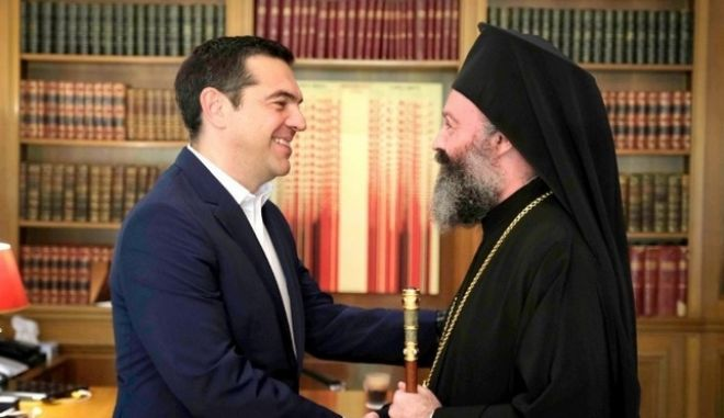 Συνάντηση Τσίπρα με τον Αρχιεπίσκοπο Αυστραλίας, Μακάριο