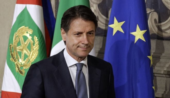 O πρωθυπουργός της Ιταλίας ο Giuseppe Conte
