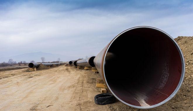 ΔΡΑΜΑ-Κατασκευή του Διαδριατικού Αγωγού φυσικού αερίου (TAP) στο ύψος του Νεροφράχτη Δράμας.(MotionTeam-ΒΕΡΒΕΡΙΔΗΣ ΒΑΣΙΛΗΣ)