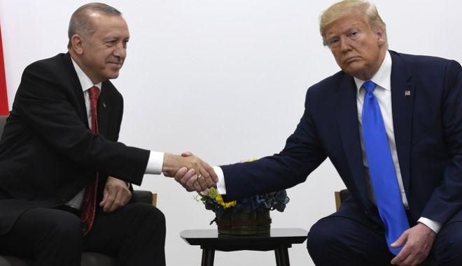 Φωτό αρχείου: Συνάντηση Τραμπ - Ερντογάν