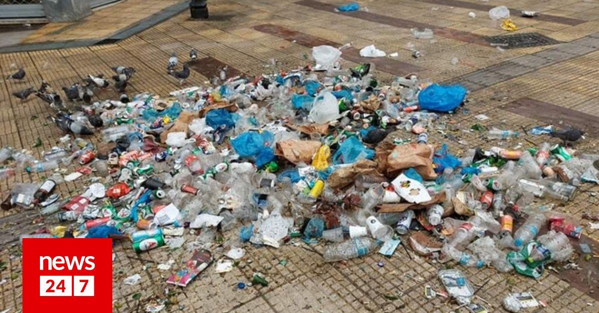 Κυψέλη: 50 σακούλες σκουπίδια από το κορονοπάρτι στην πλατεία Αγ. Γεωργίου – Κοινωνία