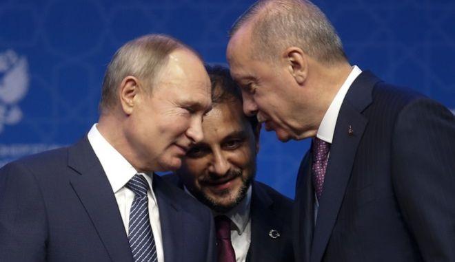 Πούτιν και Ερντογάν συζητάνε για τον αγωγό TurkStream