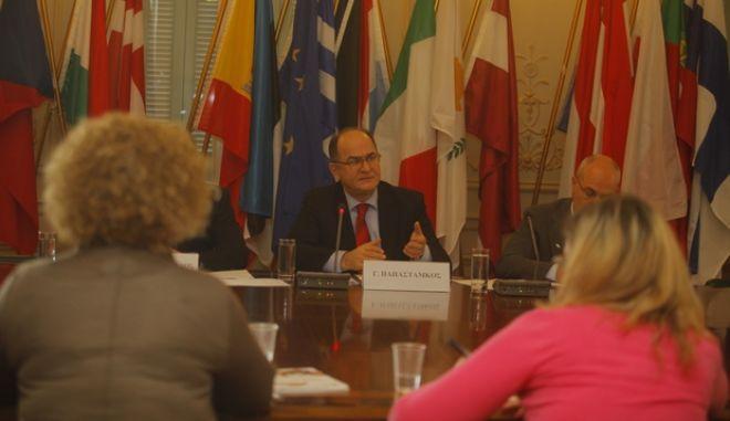 ΑΘΗΝΑ-Συνέντευξη  του Γ.Παπαστάμκου (αντιπρόεδρος του Ευρωπαϊκού Κοινοβουλίου) με θέμα την Πρωτοβουλία των Ευρωπαίων Πολιτών (ΠΕΠ), η οποία θεσπίστηκε με τη Συνθήκη της Λισσαβόνας.(EUROKINISSI)