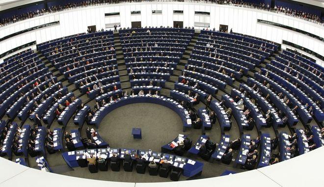 Η αίθουσα του Ευρωπαϊκού Κοινοβουλίου στο Στρασβούργο