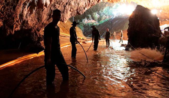 Φωτογραφία από τη σπηλιά στην Ταϊλάνδη, όπου διαδραματίστηκε μία από τις πιο δραματικές διασώσεις