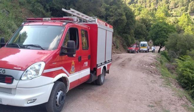 Καρδίτσα: Φορτηγό έπεσε σε χαράδρα - Νεκρός ένας 46χρονος