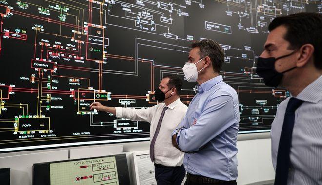 Σύσκεψη με την ηγεσία του Υπουργείου Περιβάλλοντος και Ενέργειας και διοικητικά στελέχη του ΑΔΜΗΕ, του ΔΕΔΔΗΕ και παραγωγούς ηλεκτρικής ενέργειας είχε ο πρωθυπουργός Κυριάκος Μητσοτάκης